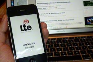 Mit LTE bis zu 100 MBit/s schnell