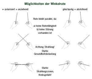 Anzeige einer Winkelrute (© geovital-akademie.com)
