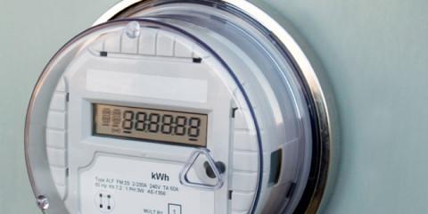 Smart Meter, mit Stromzähler und Thermostat zu Elektrosmog