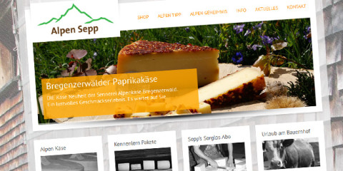 Alpen Sepp, Qualität in Käse aus den Alpen