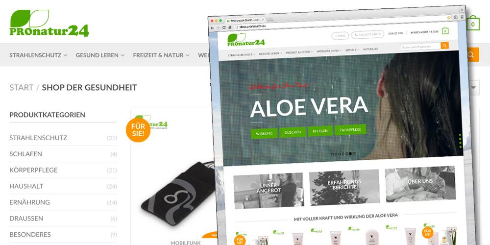 Nach 6 Monaten Entwicklung ging der neue PROnatur24 Onlineshop an den Start