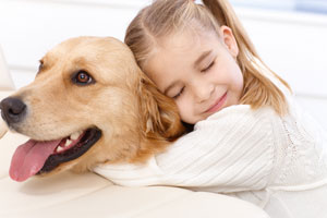 Haustiere sind geliebte Familienmitglieder